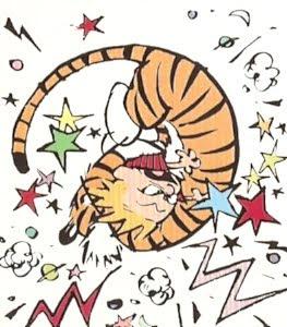 Calvin & Hobbes en una civilizada discursión