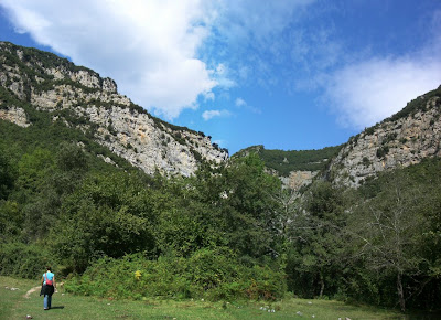 Mountains in La Garrotxa near Sant Aniol d'Aguja