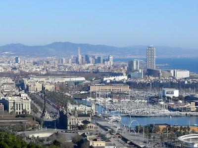 Barcelona Port Vell from Montjuic