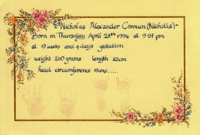 Nicholas' Hand & Footprints Birth Certificate