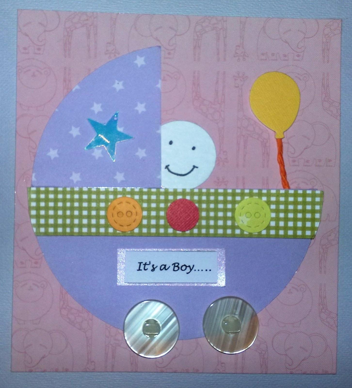 Handmade With Love By Ain New Born Baby Boy Card