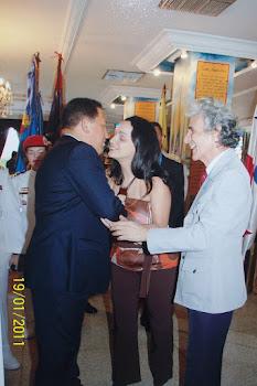 Visita del Presidente Hugo Chavez Frias al Salón de la Patria