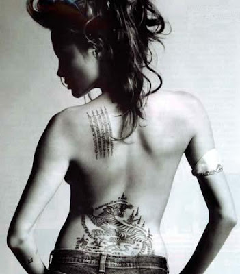 angelina jolie tattoos in wanted. angelina jolie wanted tattoos.