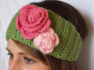 Free Crochet Patterns For Ladies Headbands : My Creative Stirrings: Womens Crocheted Winter Headband ...