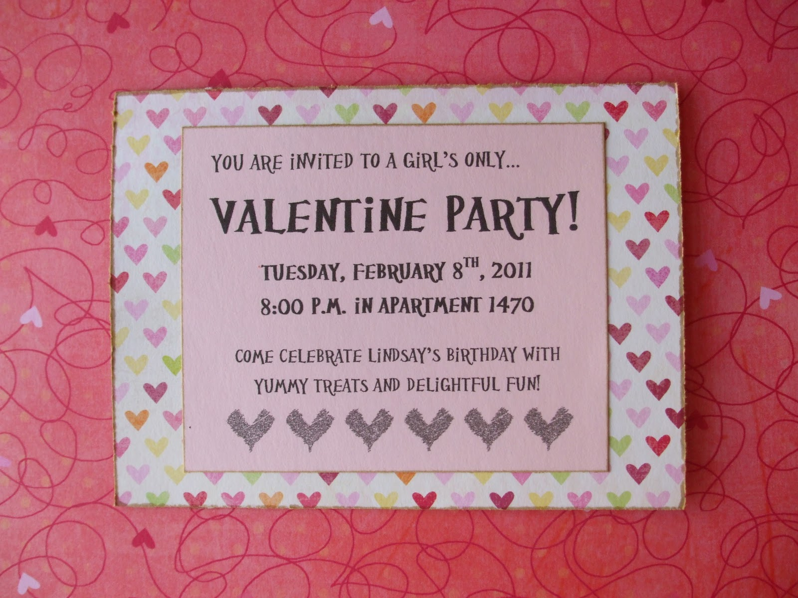 valentines party invitations - Pertamini.co