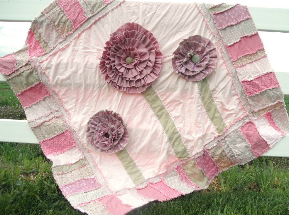 Ruffled Flower Rag Quilt Pattern A Vision To Remember