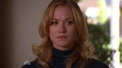 Yvonne Strahovski playing Sarah Walker on Chuck
