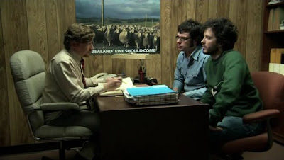 Murray, Bret and Jemaine in the office