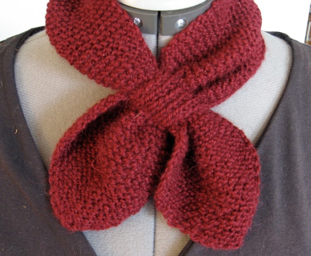 Knitting Pattern Ascot Scarf : Chocolations in the Season Mother Day Easy Knitting Scarf Patterns