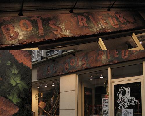 enseigne du Bois Rieur.www.auboisrieur.com (Boutique où il est bon d'aller y faire un tour...)