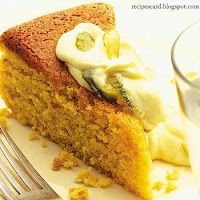 Orange & Almond Cake With Citrus Mascarpone