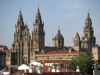 Vista de Santiago de Compostela y su catedral