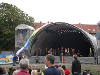 El escenario principal en Folk Parken.