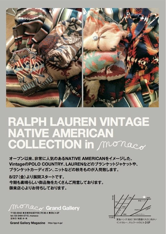 If You Happen To Find Yourself In Tokyo, Jont On Over To The Monaco Grand  Gallery To View The Ralph Lauren Vintage Native American Exhibition.