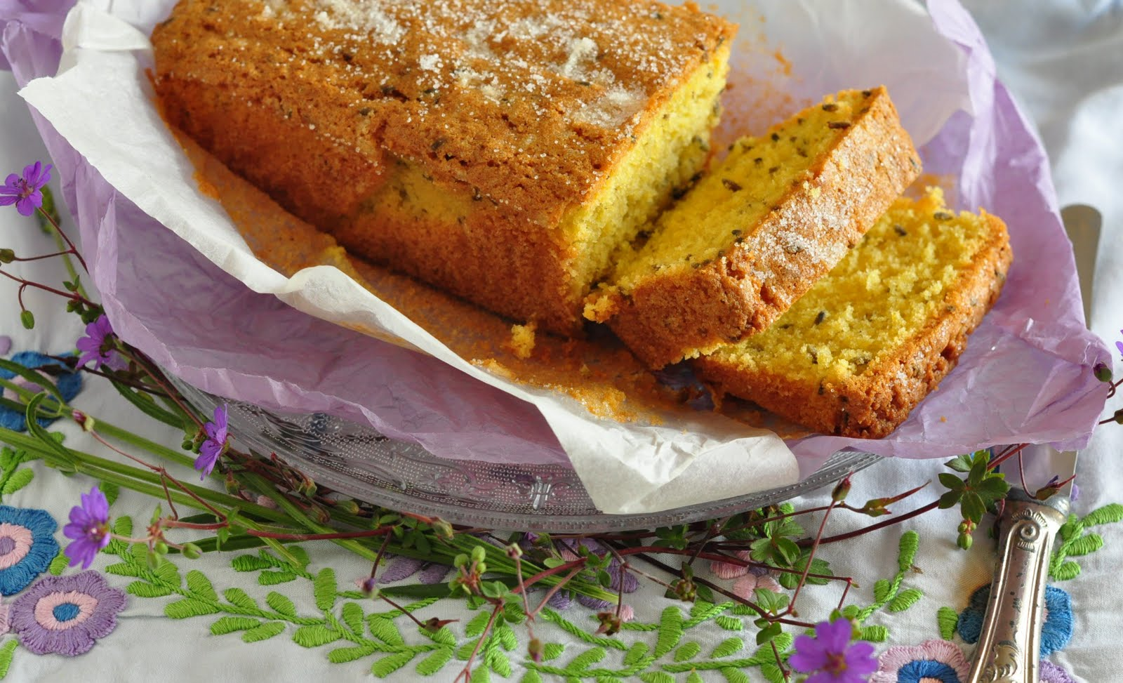 stuff i make bake and love lavender madeira the taste of summer oh yum so gorgeous and so easy this beauty is smattered with lavender buds and covered in sugar a golden crumbly cake with a subtle floral scent that