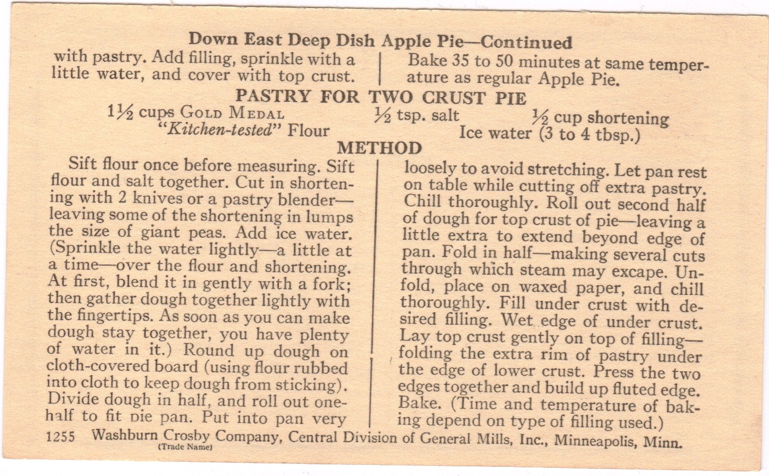 ... Recipe Box: An All-American Day of Firsts: Old Fashioned Apple Pie