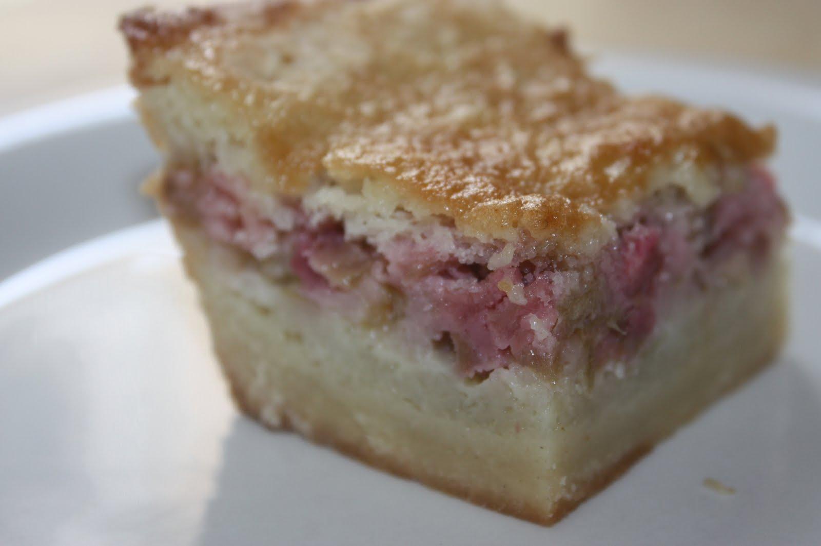 Rhubarb Birthday Cake