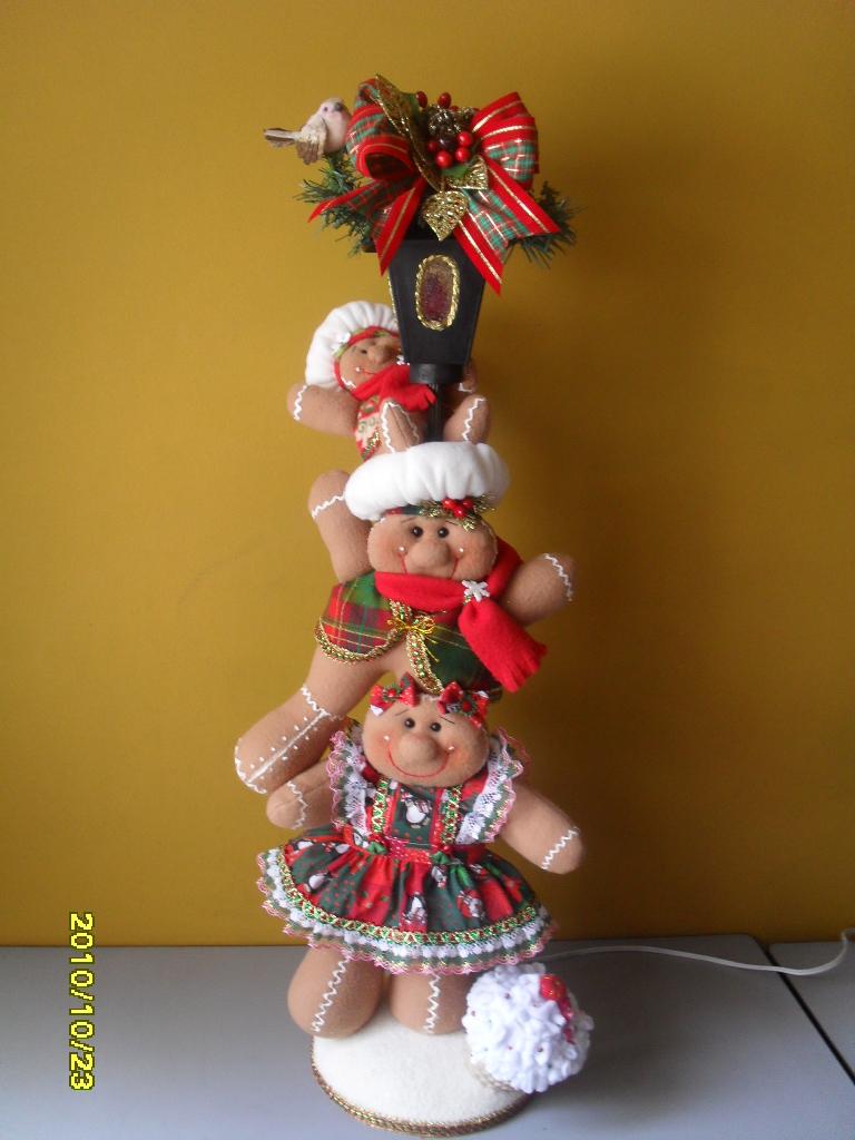 navidad 2010 trio gorditos, oso navideño y torre galletas