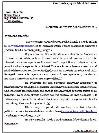 Ejemplo De Carta En Ingles