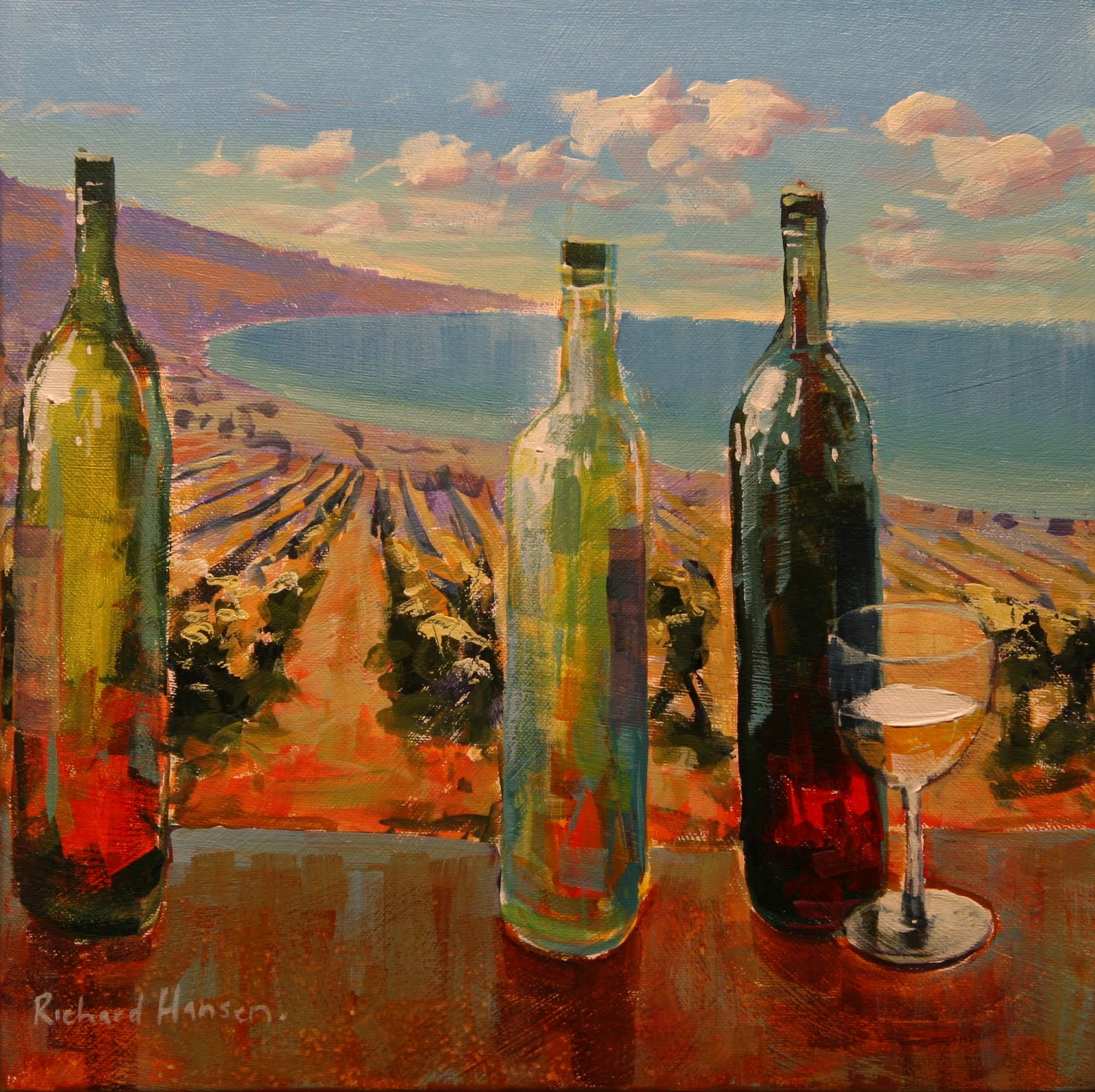 Richard hansen painting notes wine theme for Wine and painting mn