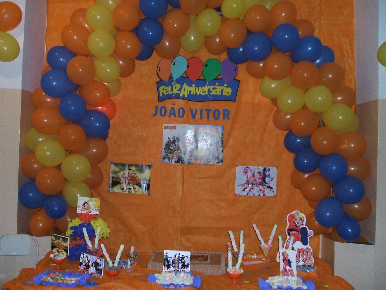 decoracao festa naruto:TUTI BALÕES: Tema Naruto arco de balões