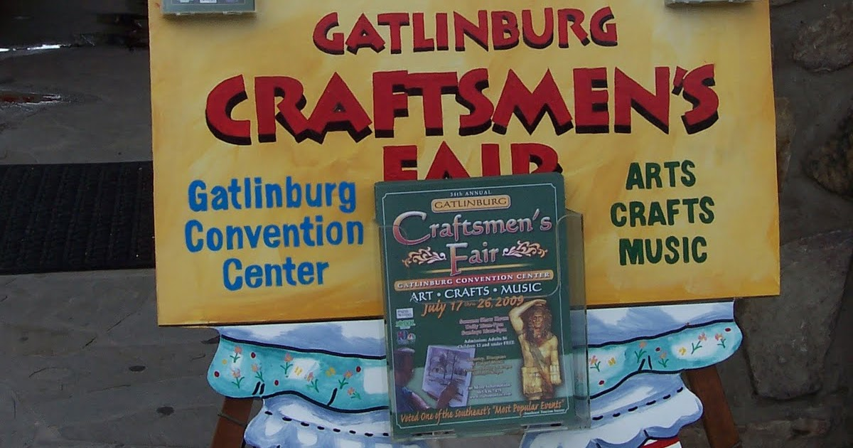 On the road with bloomers and drawers craftmen 39 s fair for Gatlinburg civic center craft show