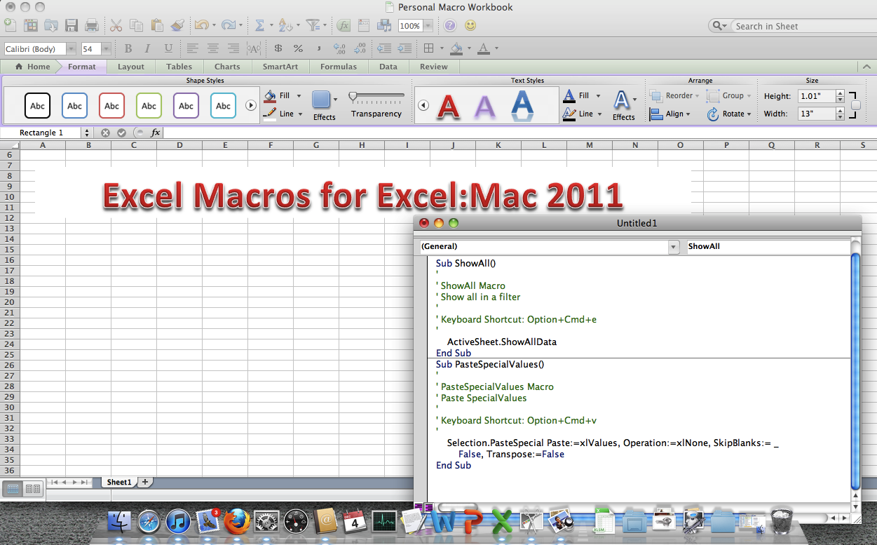 how to write macros for mac
