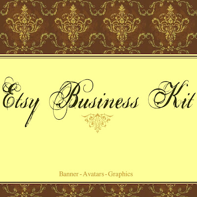 Custom Etsy Graphic Set Victorian Damask Steampunk Aurelle Designs