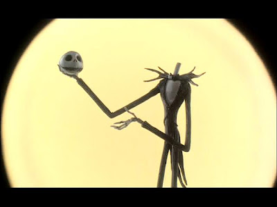 Jack Skellington takes off his head