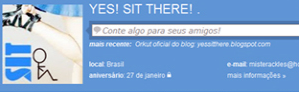 Yes Sit There nas redes sociais!