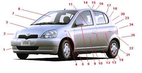 1 furonto banpa front bumper pra choque dianteiro