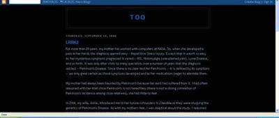 Sergey Brin Blog - TOO
