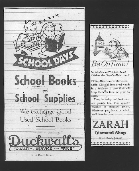 1937 Back to School Newspaper Ads