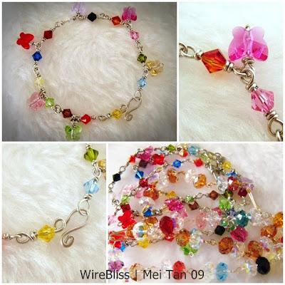 wire wrapped sparkly bracelet - wireblissmei