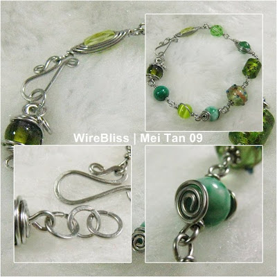 wireblissmei - wire wrapped bracelet