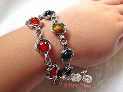 Twice Around the World Wire Wrap Bracelet