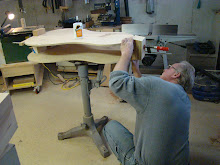 DAN BUILDS THE MOLD FOR THE PEAR SHAPED DOUBLE BASS