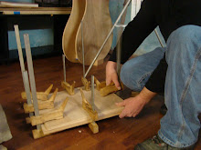 Clamping Glued Wood for Proper Thickness