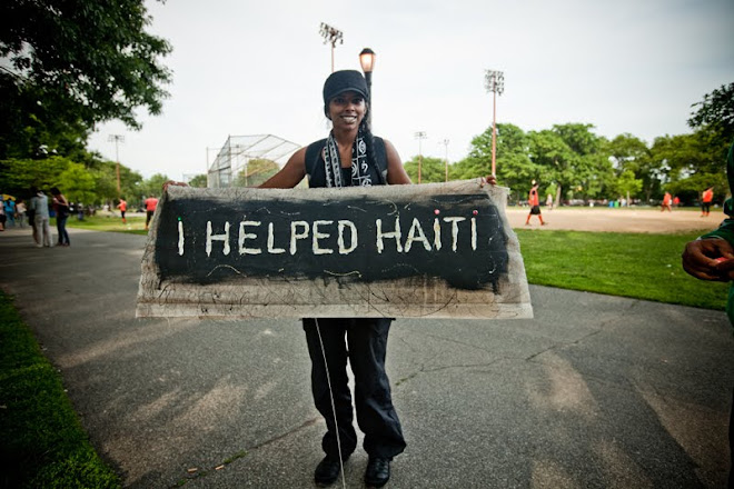 """I HELPED HAITI"""