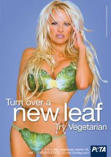 pamela anderson vegetarian