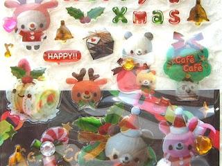 japan christmas stickers