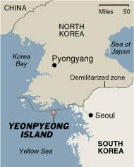 Yeonpyeong Island Map