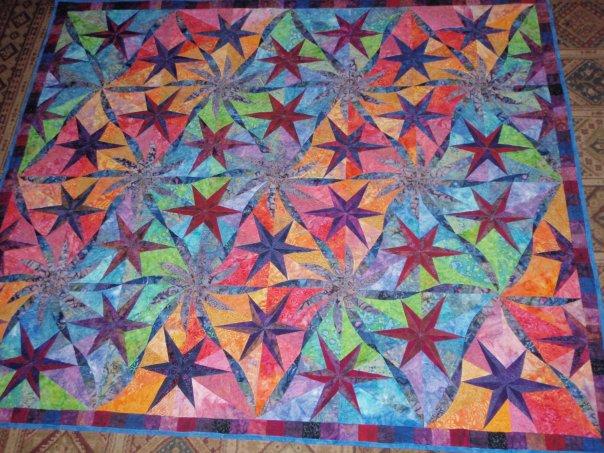 Sue Daurios Quilting Adventures Twisted Stars