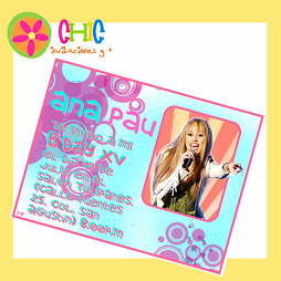 Invitaciones de HANNA MONTANA