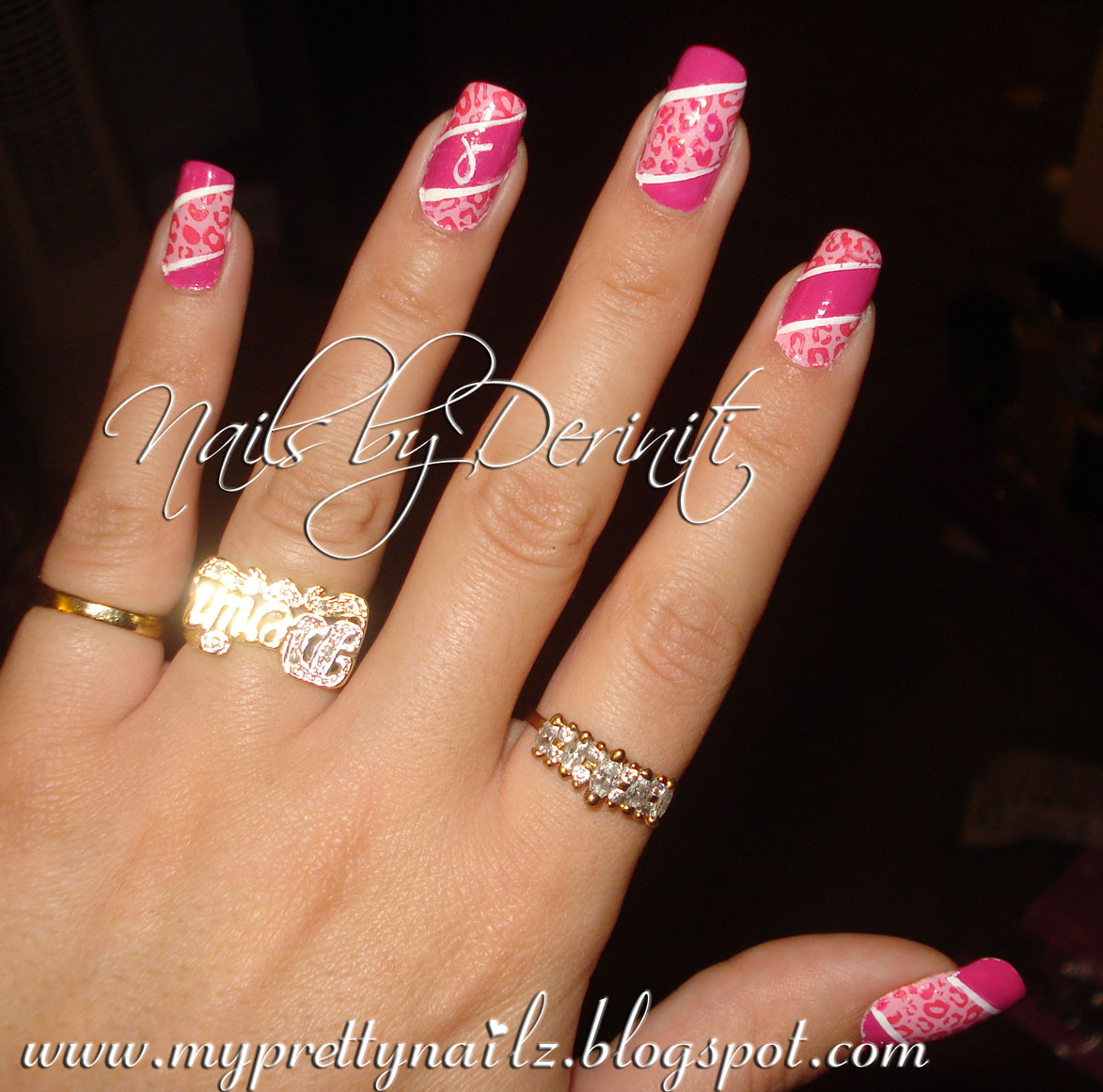 My Pretty Nailz Think Pink Nails Breast Cancer Awareness Nails