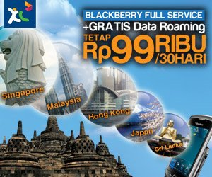 XL Blackberry Gratis Roaming di 7 Negara, Paket XL BB Gratis Roaming