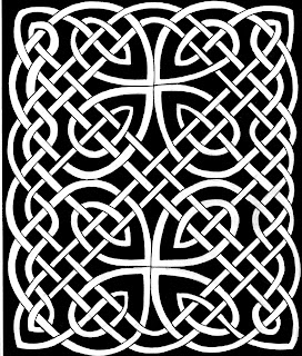 106 - PICTISH KNOTWORK PANEL - DAVE EDWARDS - INK - 1985