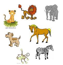 Los animales del circo.
