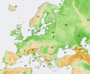 8 Los Apeninos 25 Llanura de la Europa Oriental (europa fãsico numerado)