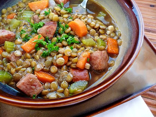 Lentil Soup with Smoked Sausage Good Life Eats